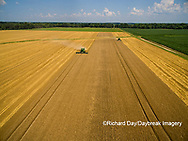 63801-11512 Combines harvesting wheat-aerial Marion Co.  IL