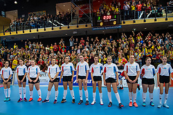 17-02-2019 NED: National Cupfinal Draisma Dynamo - Abiant Lycurgus, Zwolle<br /> Dynamo surprises national champion Lycurgus in cup final and beats them 3-1 / Courtcrew in Bas van de Goor shirts