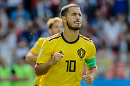 Eden Hazard of Belgium celebrates after scoring during the 2018 FIFA World Cup Russia, Group G football match between Belgium and Tunisia on June 23, 2018 at Spartak Stadium in Moscow, Russia - Photo Thiago Bernardes / FramePhoto / ProSportsImages / DPPI