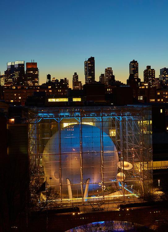 View of Hayden Planetarium from 7 West 81st Street, 10th floor
