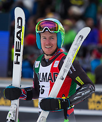 22.12.2013, Gran Risa, Alta Badia, ITA, FIS Ski Weltcup, Alta Badia, Riesenslalom, Herren, 2. Durchgang, im Bild Ted Ligety (USA, 3. Platz) // 3rd place Ted Ligety of the USA reacts in the finish Area during 2nd run of mens Giant Slalom of the Alta Badia FIS Ski Alpine World Cup at the Gran Risa Course in Alta Badia, Italy on 2012/12/22. EXPA Pictures © 2013, PhotoCredit: EXPA/ Johann Groder