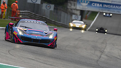 May 11, 2019 - Monza, MB, Italy - KESSEL RACING Ferrari 488 GTE EVO of Manuela GOSTNER (ITA), Rahel FREY (CHE) and Michelle GATTING (DEN) at Ascari chicane during Free Practice Session 2 of ELMS italian round in Monza. (Credit Image: © Riccardo Righetti/ZUMA Wire)
