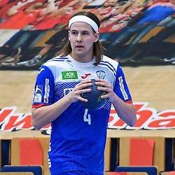 Lemgos Bjarki Mar Elisson (Nr.4) mit dem Ball beim Spiel in der Handball Bundesliga, Die Eulen Ludwigshafen - TBV Lemgo Lippe.<br /> <br /> Foto © PIX-Sportfotos *** Foto ist honorarpflichtig! *** Auf Anfrage in hoeherer Qualitaet/Aufloesung. Belegexemplar erbeten. Veroeffentlichung ausschliesslich fuer journalistisch-publizistische Zwecke. For editorial use only.
