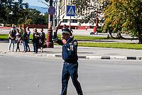 Russia, Sakhalin, Yuzhno-Sakhalinsk. Traffic police.