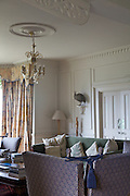 The living room at The Old Rectory, Chumleigh, Devon <br /> CREDIT: Vanessa Berberian for The Wall Street Journal<br /> LUXRENT-Nanassy/Chulmleigh