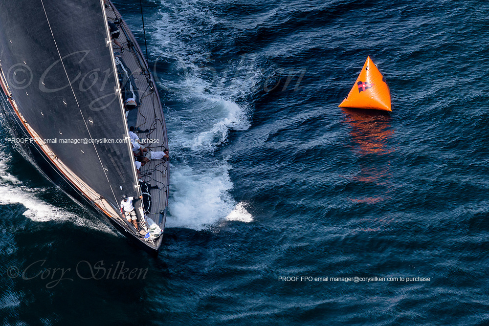 Lionheart sailing in the J Class World Championship.