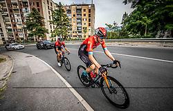 Kristijan Koren and Matej Mohoric during Slovenian National Road Cycling Championships 2021, on June 20, 2021 in Koper / Capodistria, Slovenia. Photo by Vid Ponikvar / Sportida