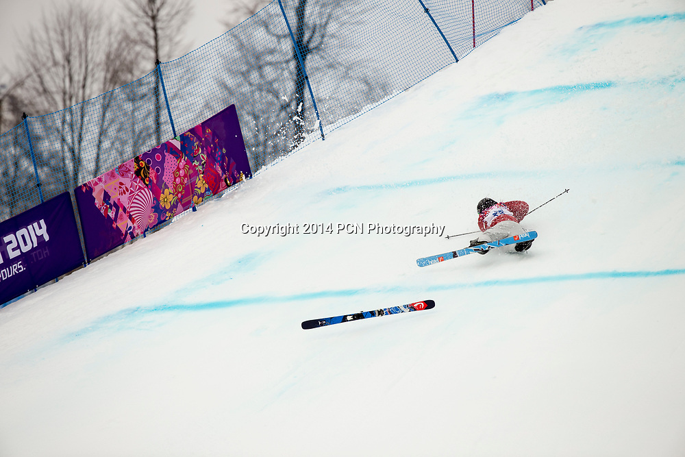 Kaya Turski (CAN) competing in the Ladies' Ski Slopestyle at the Olympic Winter Games, Sochi 2014