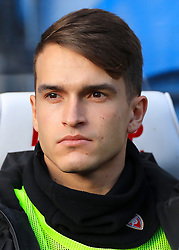 Arsenal's Denis Suarez warms up ahead of the Premier League match at the John Smith's Stadium, Huddersfield.