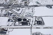 Luchtfoto rioolwaterzuiveringsinstallatie (RWZI) Harlingen