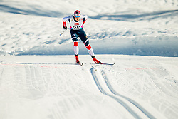January 31, 2018 - Goms, Switzerland - Mattis Stenshagen of Norway competes in the men's 15km classic technique interval start during the FIS U23 Cross-Country World Ski Championships on January 31, 2018 in Obergoms. (Credit Image: © Vegard Wivestad Gr¯Tt/Bildbyran via ZUMA Press)