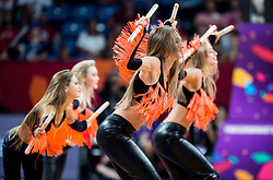 Cheerleaders Red Foxes perform during basketball match between National Teams of Croatia and Russia at Day 11 in Round of 16 of the FIBA EuroBasket 2017 at Sinan Erdem Dome in Istanbul, Turkey on September 10, 2017. Photo by Vid Ponikvar / Sportida