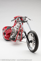 Aaron Green's Cherry Bomb, Custom 147 Engenuity. Photographed by Michael Lichter in Sturgis, SD. August 1st, 2020. ©2020 Michael Lichter