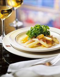 White asparagus dish