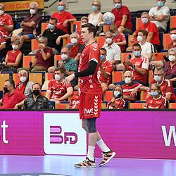 Ludwigshafens Azat Valiullin (Nr.55) am Ball beim Spiel in der Handball Bundesliga, Die Eulen Ludwigshafen - THW Kiel.<br /> <br /> Foto © PIX-Sportfotos *** Foto ist honorarpflichtig! *** Auf Anfrage in hoeherer Qualitaet/Aufloesung. Belegexemplar erbeten. Veroeffentlichung ausschliesslich fuer journalistisch-publizistische Zwecke. For editorial use only.