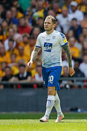 Tranmere Rovers striker James Norwood (10) during the EFL Sky Bet League 2 Play Off Final match between Newport County and Tranmere Rovers at Wembley Stadium, London, England on 25 May 2019.