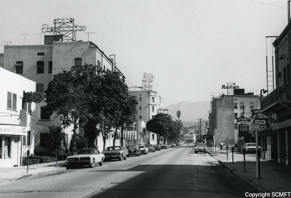 1972 Looking north up Wilcox Ave. from Hollywood Blvd.