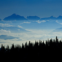 Glacier National Park, from The Big Mountain ski area, above Whitefish, Montana.