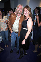 SIR RICHARD BRANSON and SARAH, DUCHESS OF YORK at The Ralph Lauren Sony Ericsson WTA Tour Pre-Wimbledon Party hosted by Richard Branson at The Roof Gardens, London on June 18, 2009