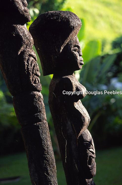 coconut statues, Viti Levu, Fiji<br />