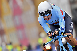 September 18, 2017 - Bergen, Norvege - BERGEN, NORWAY - SEPTEMBER 18 : Alana Castrique (BEL) in action during the Individual Time Trial Women Junior on day 2 of the 2017 World Road Championship cycling race on September 18, 2017 in Bergen, Norway, 18/09/2017 (Credit Image: © Panoramic via ZUMA Press)