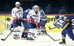 18.04.2016, Dom Sportova, Zagreb, CRO, IIHF WM, Ukraine vs Kroatien, Division I, Gruppe B, im Bild BRINE David // during the 2016 IIHF Ice Hockey World Championship, Division I, Group B, match between Uraine and Croatia at the Dom Sportova in Zagreb, Croatia on 2016/04/18. EXPA Pictures © 2016, PhotoCredit: EXPA/ Pixsell/ Sanjin Strukic<br /> <br /> *****ATTENTION - for AUT, SLO, SUI, SWE, ITA, FRA only*****