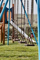 Deserted playground in Dorset during Coronavirus lock down, March 2020 UK