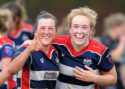 Bristol Ladies players in good spirit after defeating Saracens Women - Mandatory by-line: Paul Knight/JMP - 30/10/2016 - RUGBY - Cleve RFC - Bristol, England - Bristol Ladies v Saracens Women - RFU Women's Premiership