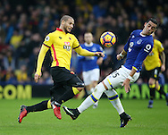 Watford's Adlene Guedioura tussles with Everton's Ramiro Funes Mori during the Premier League match at Vicarage Road Stadium, London. Picture date December 10th, 2016 Pic David Klein/Sportimage