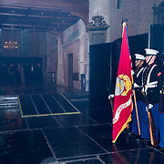 NLD/Leiden/20190404 - Margriet bij galadiner van 'The Netherlands America Foundation', Colour Guard. US Marines