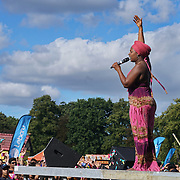 London, UK, 21th August 2016 : Linzy Bacbotte preforms live at the Mauritian Open Air Festival 2016 at Gunnersbury Park in London,UK. © See Li/PictureCapital