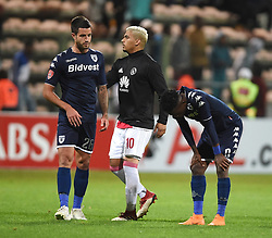 Cape Town-180411 Disappointed Wits players Keegan Ritchie and Thabanf Monare  after losing -0 against Ajax Cape Town in a PSL match played at Athlone stadium.photographer:Phando Jikelo/African News Agency/ANA