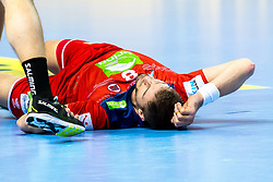 16.01.2018, Zatika Sport Centre, Porec, CRO, EHF EM, Herren, Österreich vs Norwegen, Gruppe B, im Bild Bjarte Myrhol (NOR) // during the preliminary round, group B match of the EHF men' s Handball European Championship between Austria and Norway at the Zatika Sport Centre in Porec, Croatia on 2018/01/16. EXPA Pictures © 2018, PhotoCredit: EXPA/ Sebastian Pucher