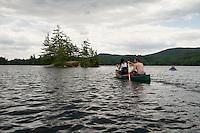 Kayaking on Lake Wicwas
