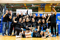 Team Calcit Volley celebrates wining National Championship after 3rd Leg Volleyball match between Calcit Volley and Nova KBM Maribor in Final of 1. DOL League 2020/21, on April 17, 2021 in Sportna dvorana, Kamnik, Slovenia. Photo by Matic Klansek Velej / Sportida