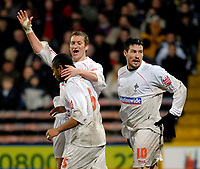 Photo: Alan Crowhurst.<br />Crystal Palace v Swindon Town. The FA Cup. 06/01/2007. Swindon's Jerel Ifil (front) is congratulated on his goal 2-1.