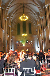 Guests at dinner at The Magic of Winter ball in aid of the charity KIDS held at The Royal Courts of Justice, London on 2nd Ferbruary 2005.<br />