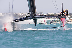 June 25, 2017 - France - The Great Sound, Bermuda, 25th June 2017. Oracle Team USA lose race eight leaving Emirates Team New Zealand with only one more win to take the America's Cup. Day four of racing in the America's Cup presented by Louis Vuitton. (Credit Image: © Panoramic via ZUMA Press)