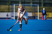 Surbiton's Hannah Martin. Holcombe v Surbiton - Investec Women's Hockey League Final, Lee Valley Hockey & Tennis Centre, London, UK on 23 April 2017. Photo: Simon Parker