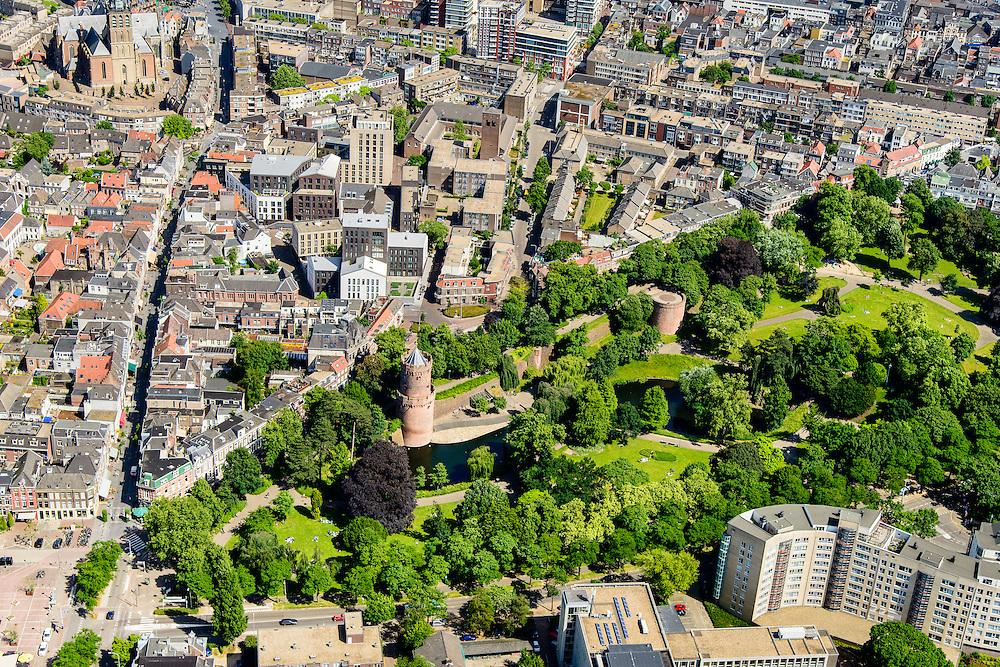 Nederland, Gelderland, Nijmegen, 09-06-2016; Kronenburgpark en binnenstad Nijmegen.<br /> <br /> Town of Nijmegen, inner city.<br /> luchtfoto (toeslag op standard tarieven);<br /> aerial photo (additional fee required);<br /> copyright foto/photo Siebe Swart