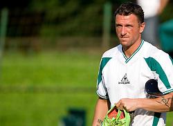 Sebastjan Cimerotic of Olimpija during preseason friendly football match between NK Olimpija and SPINS selection, on June 30, 2009, in Menges, Slovenia. SPINS won 3:2.(Photo by Vid Ponikvar / Sportida)
