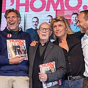 """NLD/Amsterdam/20180426 - L""""Homo 2018,  Linda de Mol, Erwin Olaf, Hans van Manen, Hans Klok en hoofdredacteur Iebele van der Meulen"""