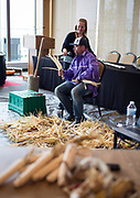 "Dan Cornelius speaks during the discussion ""Indigenous Food in Wisconsin: A Look Ahead"" during the Cap Times Idea Fest 2018 at the Pyle Center in Madison, Wisconsin, Saturday, Sept. 29, 2018."