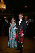 Sophie McCormick and Tom Rainsford, The Royal Caledonian Ball 2007. Grosvenor House. 4 May 2007.  -DO NOT ARCHIVE-© Copyright Photograph by Dafydd Jones. 248 Clapham Rd. London SW9 0PZ. Tel 0207 820 0771. www.dafjones.com.