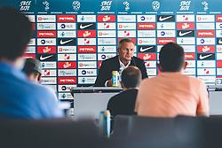 Matjaz Kek during press conference prior to second round of qualifications for World Championships 2022, Brdo Pri Kranju, 24. August 2021, Slovenija. Photo by Grega Valancic