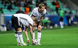 LJUBLJANA, SLOVENIA - JUNE 06: Arne Maier of Germany (R)  during the 2021 UEFA European Under-21 Championship Final match between Germany and Portugal at Stadion Stozice on June 06, 2021 in Ljubljana, Slovenia. Photo by Grega Valancic / Sportida
