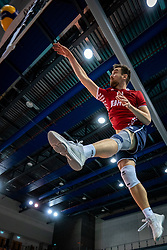 Ivan Mihalj of Croatia in action during the CEV Eurovolley 2021 Qualifiers between Sweden and Croatia at Topsporthall Omnisport on May 15, 2021 in Apeldoorn, Netherlands