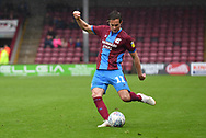 Scunthorpe United midfielder Josh Morris (11)  during the EFL Sky Bet League 1 match between Scunthorpe United and Rochdale at Glanford Park, Scunthorpe, England on 8 September 2018. Photo Ian Lyall