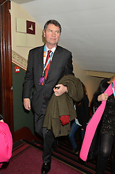 VICE ADMIRAL SIR TIM LAURENCE at the Cirque Du Soleil's VIP performance of Kooza at The Royal Albert Hall, London on 6th January 2015.
