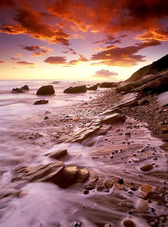 Sunset along the coast of Santa Barbara, CA